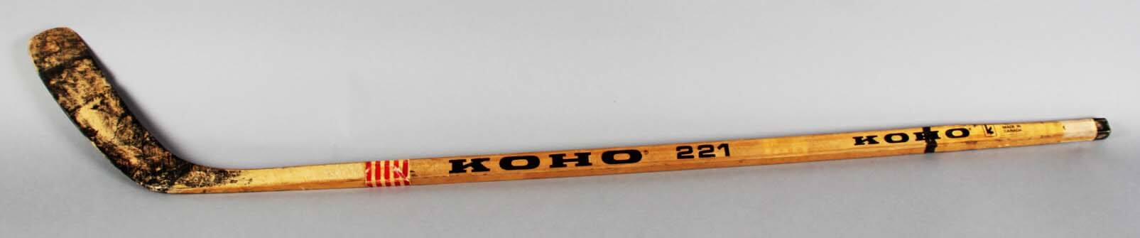 1985 Lee Fogolin Game-Used Stanley Cup Finals Hockey Stick Signed by Wayne Gretzky, Mark Messier etc. - PSA/DNA Full LOA