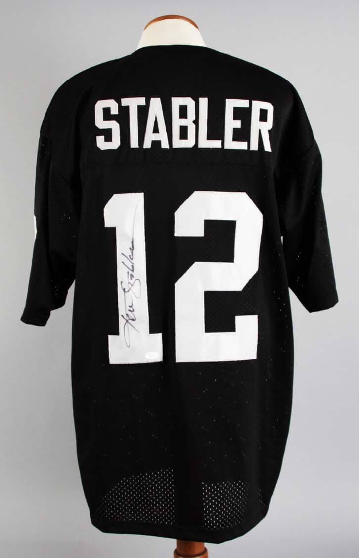 detailed look f226b a6c8e Ken Stabler Signed Oakland Raiders Jersey - COA JSA