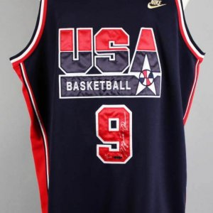 Michael Jordan Signed LE 2/209 Dream Team USA Jersey - COA UDA JSA Full Letter