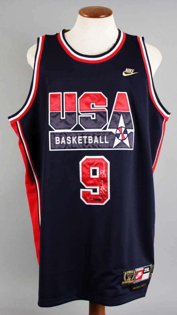 new product f8de2 f725d Michael Jordan Signed LE 2/209 Dream Team USA Jersey - COA UDA JSA Full  Letter