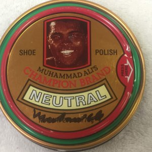 Muhammad Ali Signed The Champ Shoe Polish Unopened Full JSA LOA