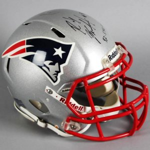 2010 Rob Gronkowski Game-Worn, Signed New England Patriots Rookie Helmet - PSA/DNA & MEARS