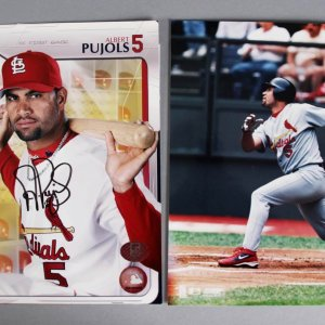 Albert Pujols Signed 8x10 Photo - St. Louis Cardinals Pujols COA