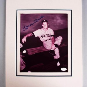 Mickey Mantle Signed New York Yankees Matted Gallo 8x10 Photo - JSA Full LOA