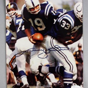Johnny Unitas Signed Baltimore Colts 8x10 Photo - COA JSA