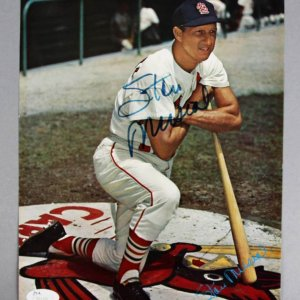 Stan Musial Signed St. Louis Cardinals 8x10 Photo - COA JSA