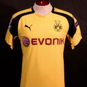 A Christian Pulisic Game-Used #22 Borussia Dortmund Home Shirt.  2016/17 UEFA Champions League.