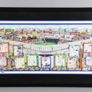 "Charles Fazzino Signed ""In A Yankee State of Mind"" Deluxe LE 121/500 3D Pop-Out Art Display"