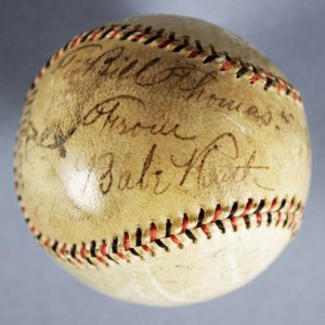 Babe Ruth Signed Baseball - New York Yankees Wilson Official League  - JSA Full LOA & Provenance LOA