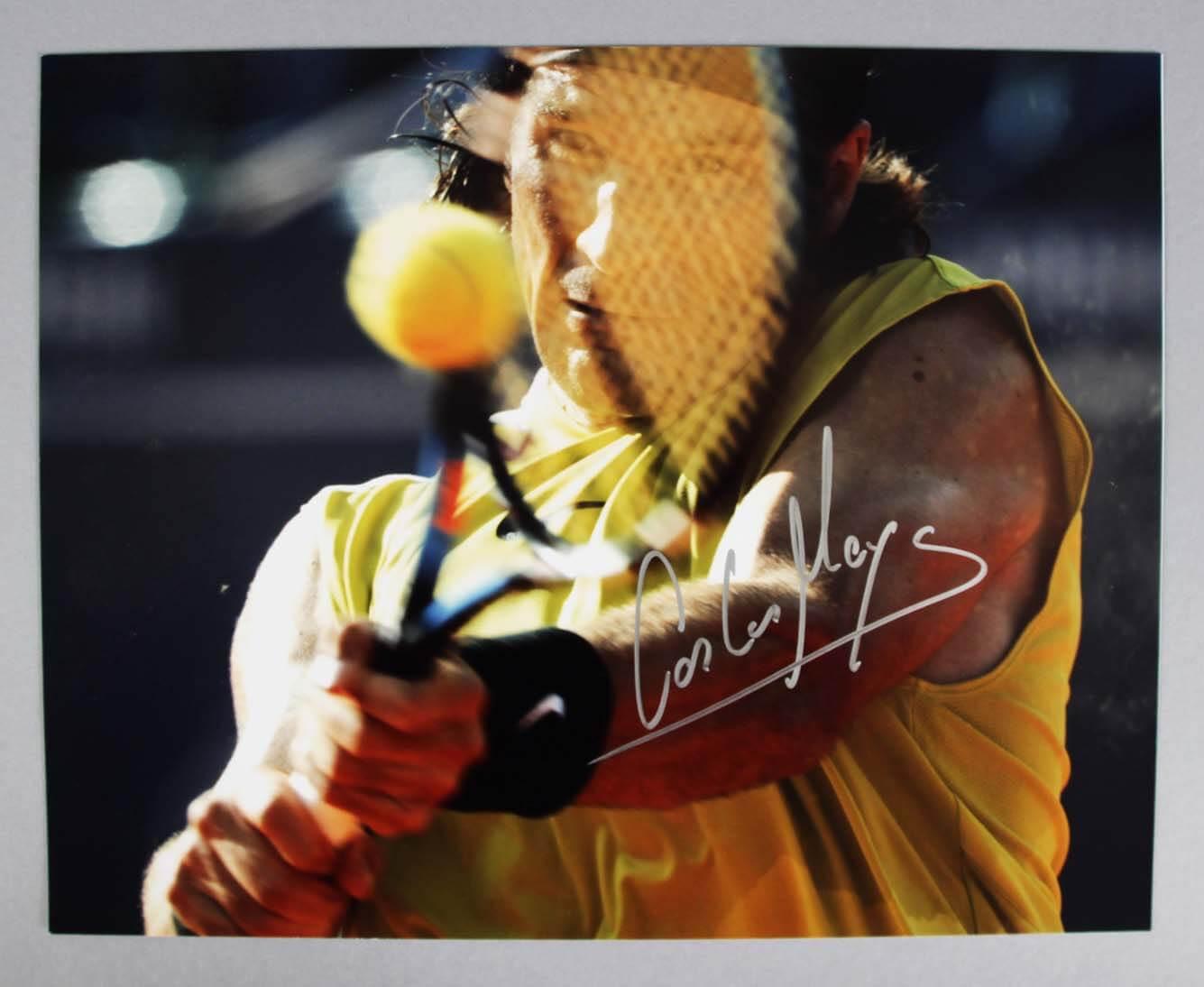 Carlos Moya Signed 11x14 Tennis Photo - COA 100% Team