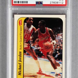 1986-87 Fleer Michael Jordan Rookie Sticker Card #8 PSA Graded NM-MT+ 8.5