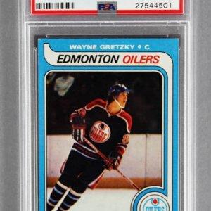 1979 Topps Wayne Gretzky Graded Rookie Hockey Card - PSA EX-MT 6