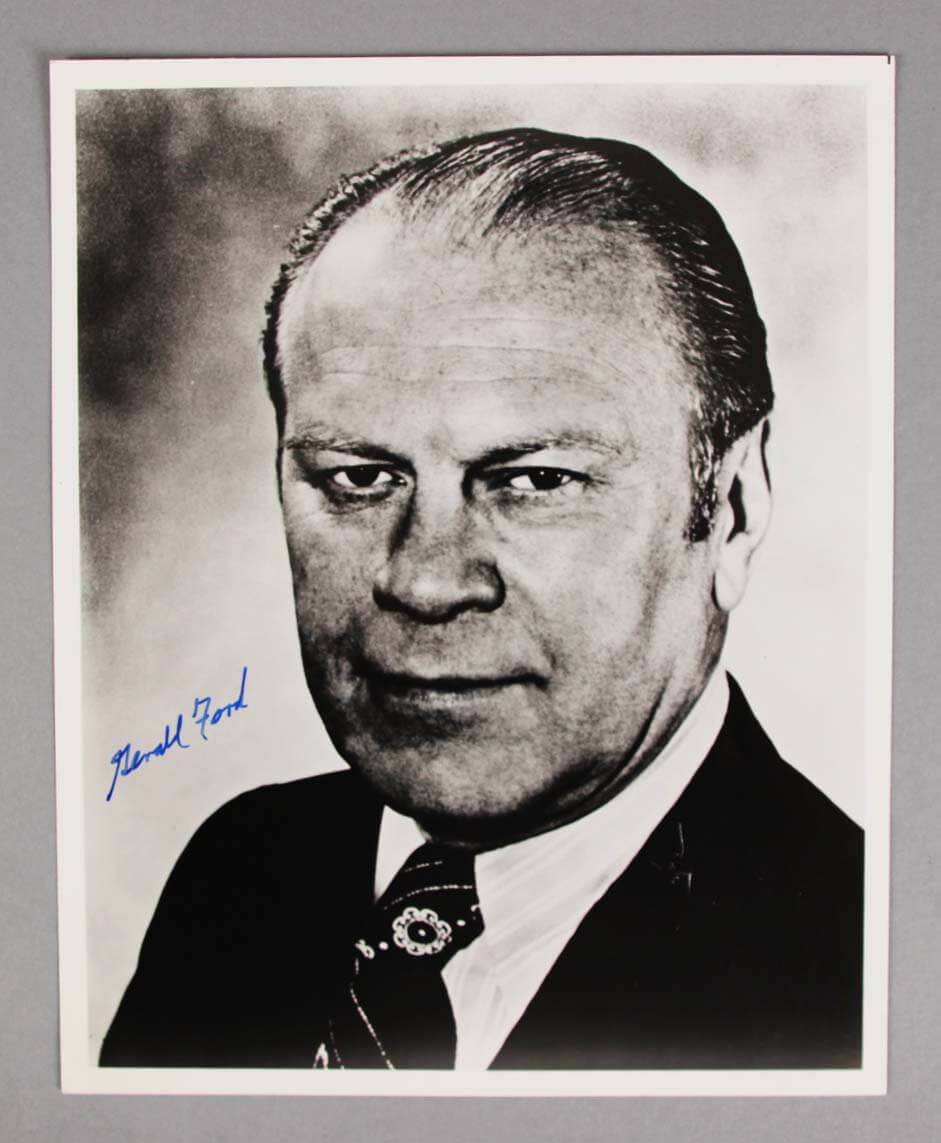 President Gerald Ford Signed Photo