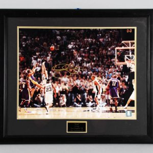 Derek Fisher Signed Los Angeles Lakers Photo Display - Online Authentics COA
