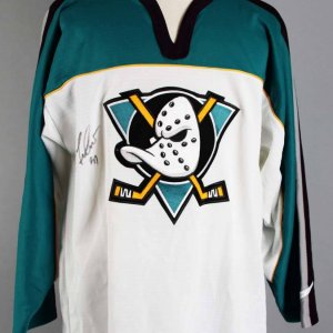 Guy Hebert Signed Anaheim Ducks Jersey - COA JSA