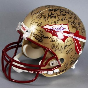 2002 Florida State Seminoles Conference Champion Team-Signed Helmet - JSA