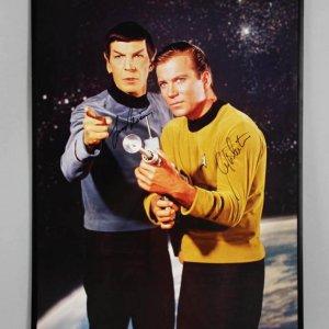 Star Trek William Shatner & Leonard Nimoy Signed 24x36 Poster - JSA