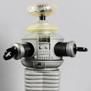 "Lost in Space Robot YM3 16""  Signed & Inscribed by Bob May  7y Box-New In Box COA JSA"