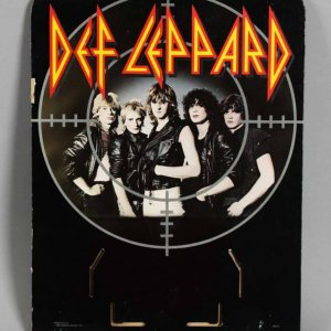 Def Leppard Die-Cut Easel Back Display - For Tower Records Display