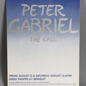 "Peter Gabriel ""The Call"" Concert Poster - For Tower Records Display"