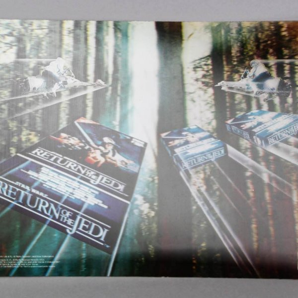 """1985-86 Star Wars """"Return of the Jedi"""" 3-D Poster CBS FOX Video Promo - For Tower Video Display"""