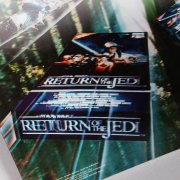 "1985-86 Star Wars ""Return of the Jedi"" 3-D Poster CBS FOX Video Promo - For Tower Video Display"