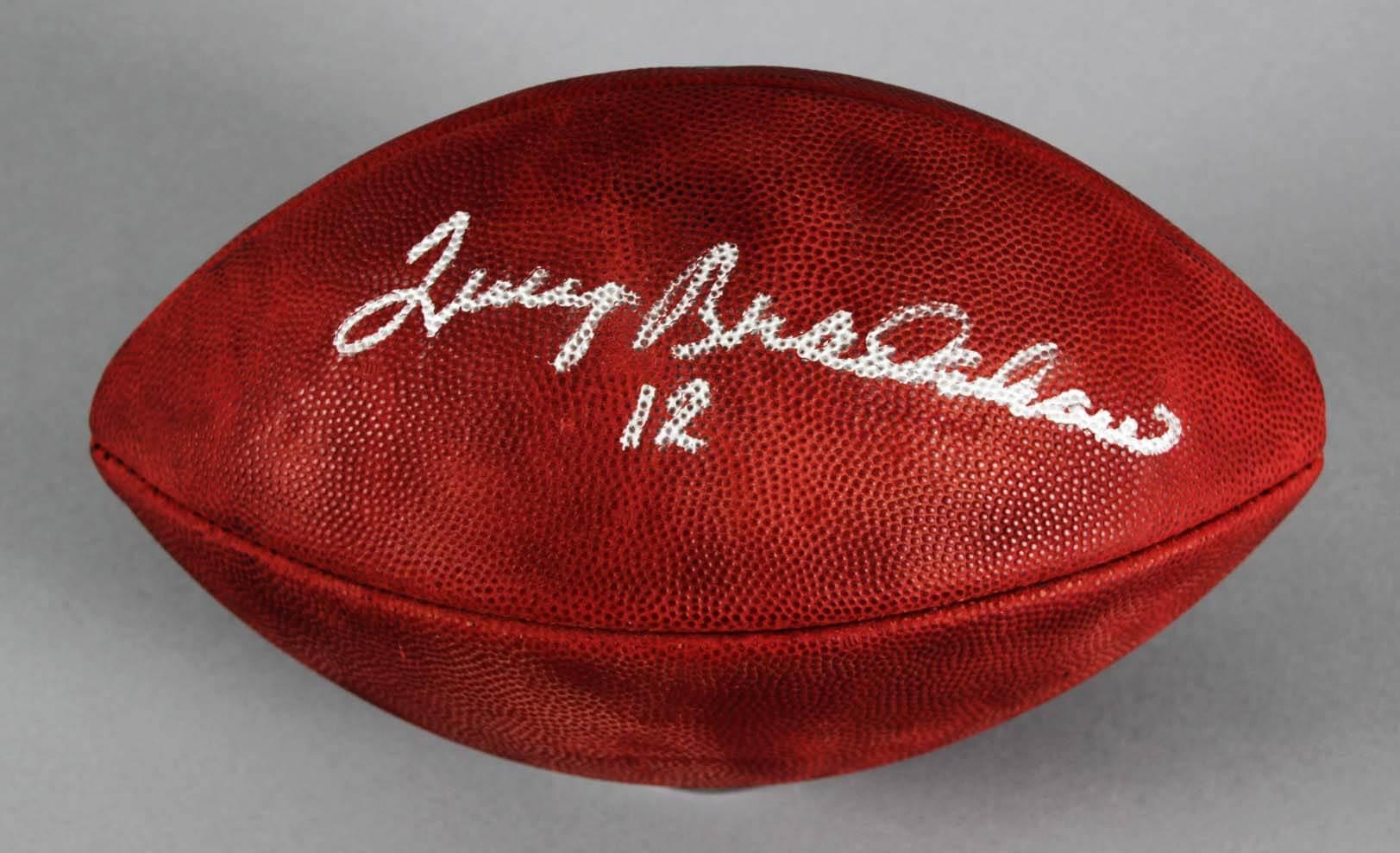 Terry Bradshaw Signed Football Steelers - COA Beckett