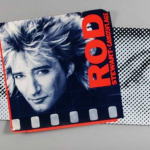 1984 Rod Stewart Camouflage Poster - For Tower Records Display