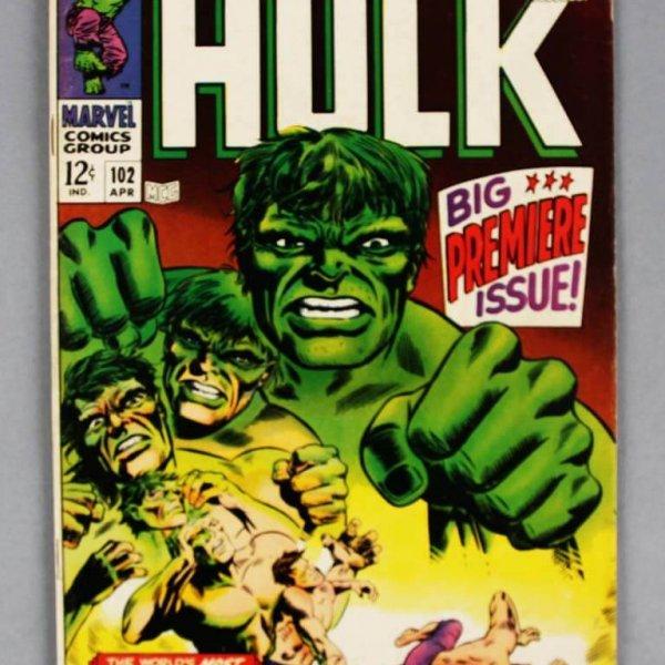1968 Hulk Comic Book Premiere Issue #102 -VG -F