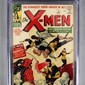1963 X-Men #1 CGC 3.0 w/ Marvel Comics COMPLETE SET of 545