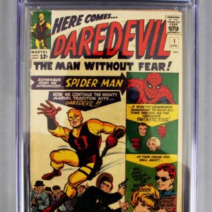 "1964 Daredevil Comic Book #1 CGC 3.5 ""COMPLETE SET"" 500 Issues Volume 1-3"