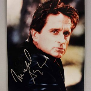 Michael Douglas Signed 8x10 Photo - JSA