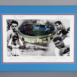 "Cleveland Sports HOFer's Multi-Signed  Photo - Otto Graham, Lou Groza etc. 10-1/2"" x 16"" - JSA"