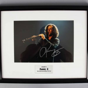 Instrumental Musician Kenny G Signed Photo Display - JSA