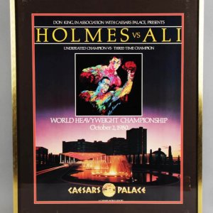"Oct. 2, 1980 Muhammad Ali vs. Larry Holmes 27.75 x 33.75"" Fight Poster Display"