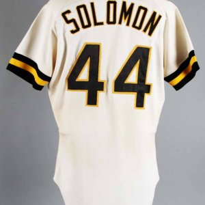 1981 Eddie Solomon Game-Worn Pittsburgh Pirates Jersey COA 100% Authentic Team