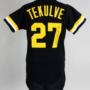 Kent Tekulve Game-Worn, Signed Jersey Pirates COA 100% Team Graded 13/20