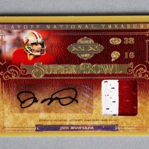 2007 National Treasures Joe Montana Signed Game-Used 49ers Jersey Card 19/19