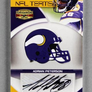 2007 Donruss Gridiron Gear Adrian Peterson Signed Rookie Card 29/30