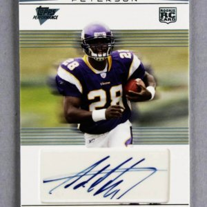 2007 Topps Performance Adrian Peterson Signed Rookie Card RC Vikings 8/169