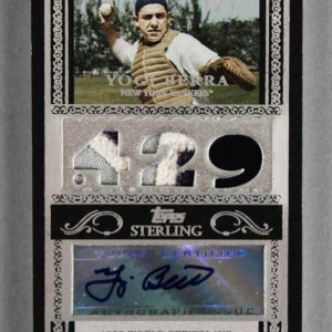 2007 Topps Sterling Yogi Berra Signed, Game-Used Yankees Jersey Card 1/1