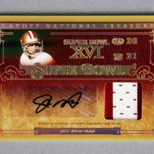 2007 National Treasures Joe Montana Signed Game-Used 49ers Jersey Card 5/16