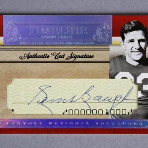 2007 National Treasures Sammy Baugh Signed Timeline Football Card Authentic Cut Signature 34/50