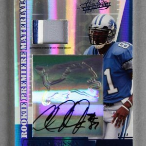 2007 Playoff Absolute Calvin Johnson Signed Card - Rookie Premiere Materials RPA 2/10