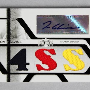 2008 Topps Triple Threads Tom Glavine Signed, Game-Used Braves Jersey Card 1/1