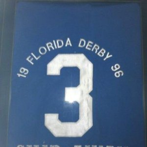 SKIP AWAY 1996 FLORIDA DERBY SADDLE CLOTH