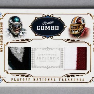2008 National Treasures DeSean Jackson & Malcolm Kelly Rookie Combo Jersey Card 9/25