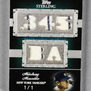2007 Topps Sterling Mickey Mantle Game Used Yankees Jersey Card Stardom Prime 1/1