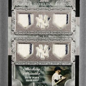 2007 Topps Sterling Mickey Mantle Game-Used Yankees Jersey Card - Moments 1/1