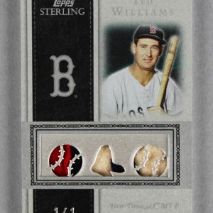2008 Topps Sterling Ted Williams Game-Used Red Sox Jersey Card 1/1